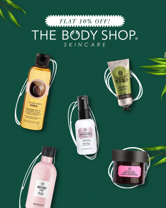 The Body Shop - Flat 10% OFF!