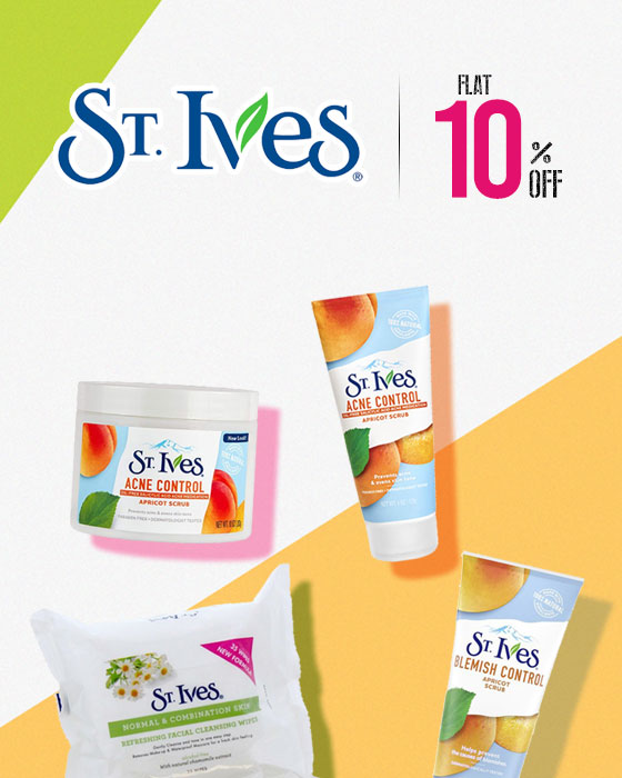 Flat 10% OFF on St. Ives!!!