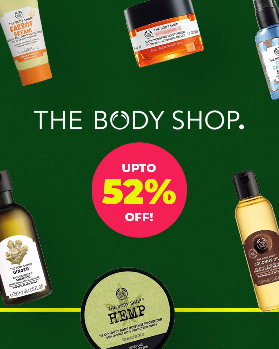 upto 52% OFF on The Body Shop!!!