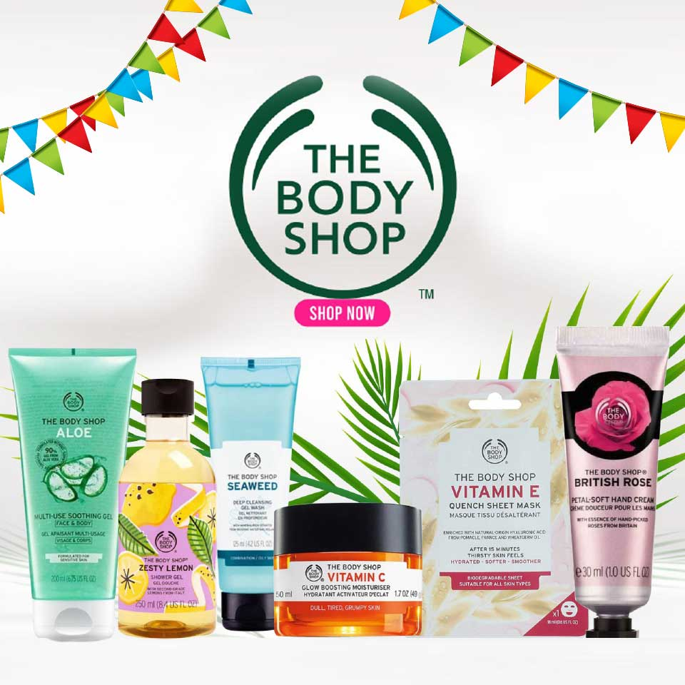Exclusive sale on The Body Shop!!!