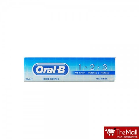 Oral-B 1.2.3 Fresh Mint Fluoride Toothpaste 100ml
