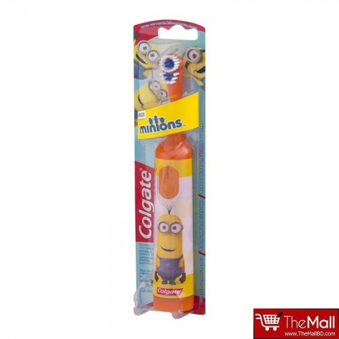 Colgate Minions Extra Soft Battery Toothbrush - Orange