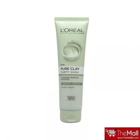 L'oreal Pure Clay Purity wash 150ml