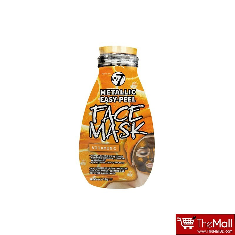 W7 Metallic Easy Peel Vitamin C Face Mask 10g
