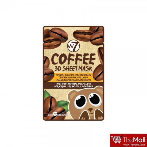 W7 Coffee 3D Sheet Mask 18g