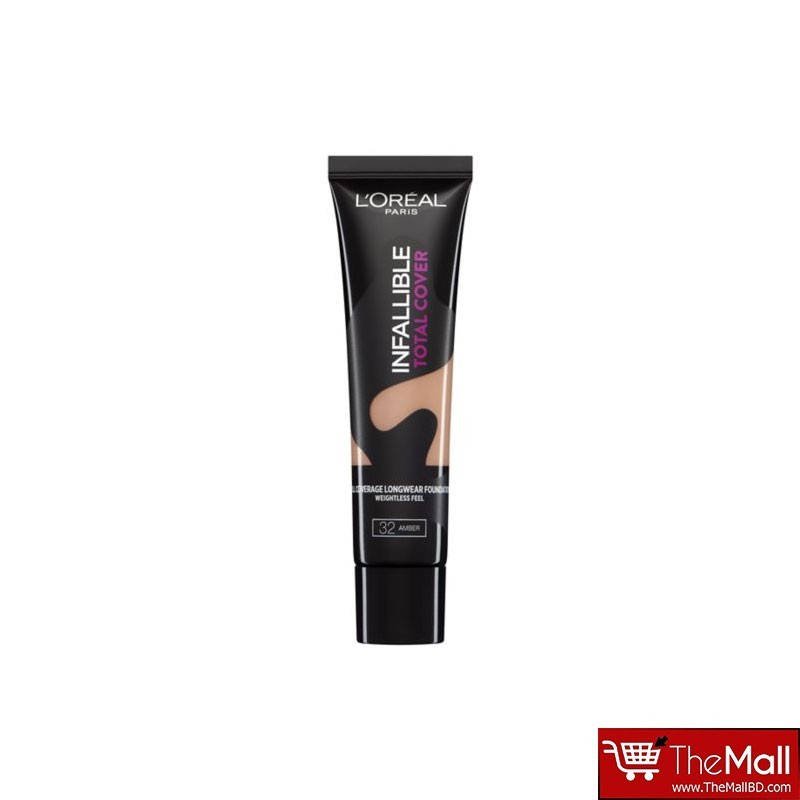 L'oreal Paris Infallible Total Cover Foundation 35g - 32 Amber