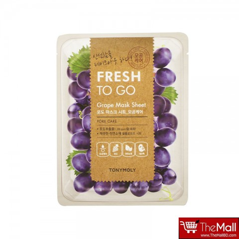 Tonymoly Fresh To Go Grape Pore Care Mask Sheet 22g
