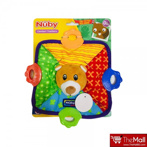 Nuby Teether Plush Blanket-Puppy