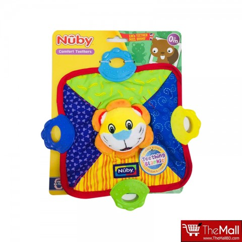 Nuby Teether Plush Blanket -Sunflower