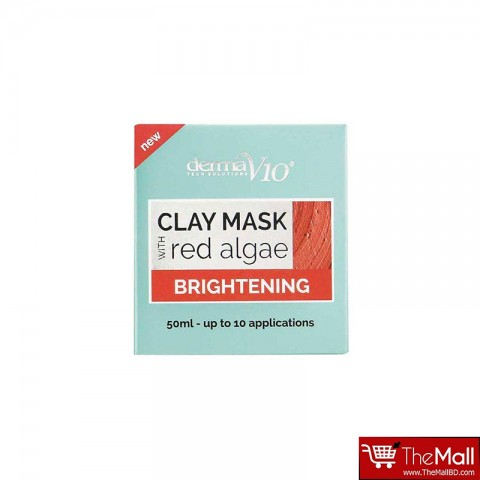 Derma V10 Brightening Clay Mask With Red Algae 50ml