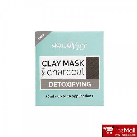 Derma V10 Detoxifying Clay Mask With Charcoal 50ml