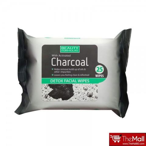Beauty Formulas Charcoal Detox Facial 25 Wipes