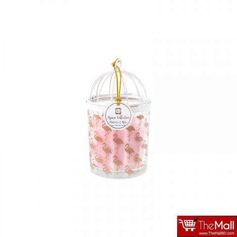 Aroma Collection Bird Cage Flamingo Luxury Scented Candle - Prosecco & Rose Fragrance
