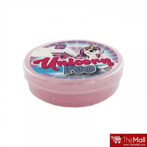 Unicorn Poop Glitter Slime - Light Pink