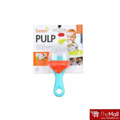 Boon Pulp Silicone Feeder - Blue/ Orange