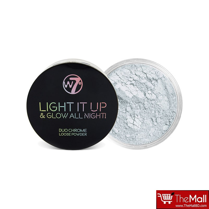 W7 Light It Up & Glow All Night ! Duo Chrome Loose Powder 4g - On Air