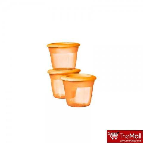 Tommee Tippee Basic Essentials Basic Food Pots 3Pk - Orange