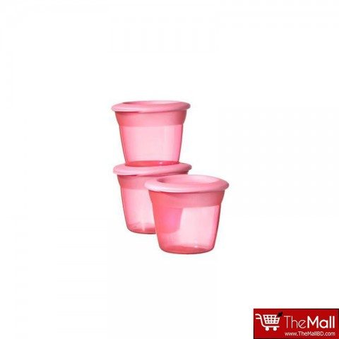 Tommee Tippee Basic Essentials Basic Food Pots 3Pk - Pink