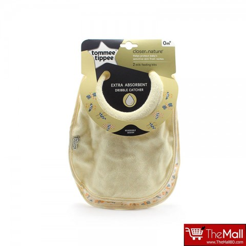 Tommee Tippee Closer To Nature Milk Feeding Bibs 2Pk -Baby Yellow