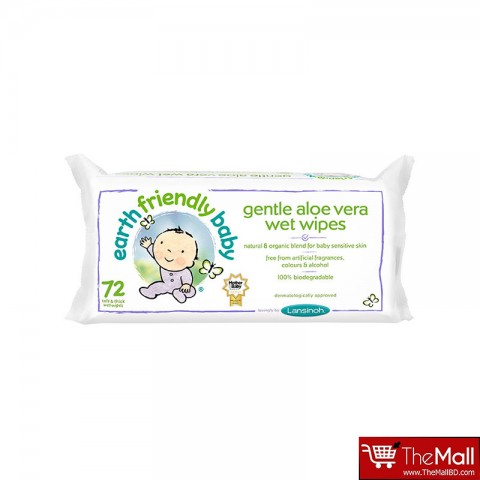 Earth Friendly Baby Eco Baby Wipes 72Pk