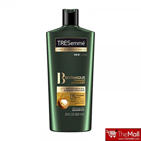 Tresemme Botanique Damage Recovery Shampoo With Macadamia Oil & Wheat Protein 650ml