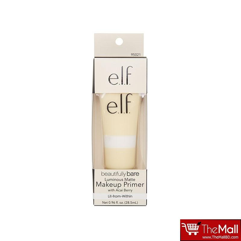 e.l.f. Beautifully Bare Luminous Matte Makeup Primer 28.5ml