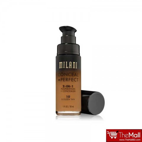 Milani Conceal + Perfect 2-in-1 Foundation + Concealer 30ml - 10 Golden Tan