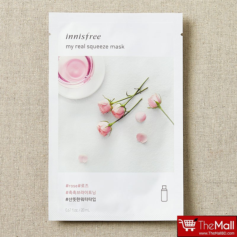 Innisfree My Real Squeeze Mask 20ml - Rose