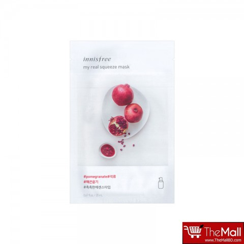 Innisfree My Real Squeeze Mask 20ml - Pomegranate
