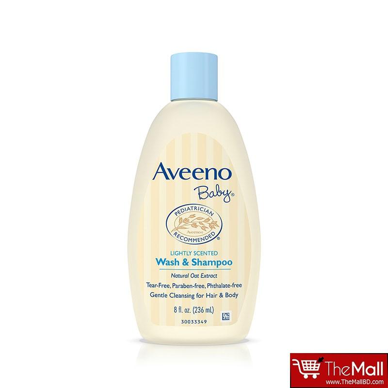 Aveeno Baby Lightly Scented Wash & Shampoo 236ml