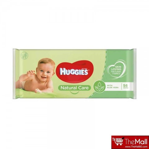 Huggies Natural Care Baby Fresh Wipes with Aloe Vera