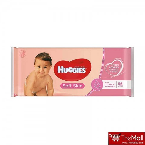 Huggies Baby Wipes Soft Skin 56 Pack