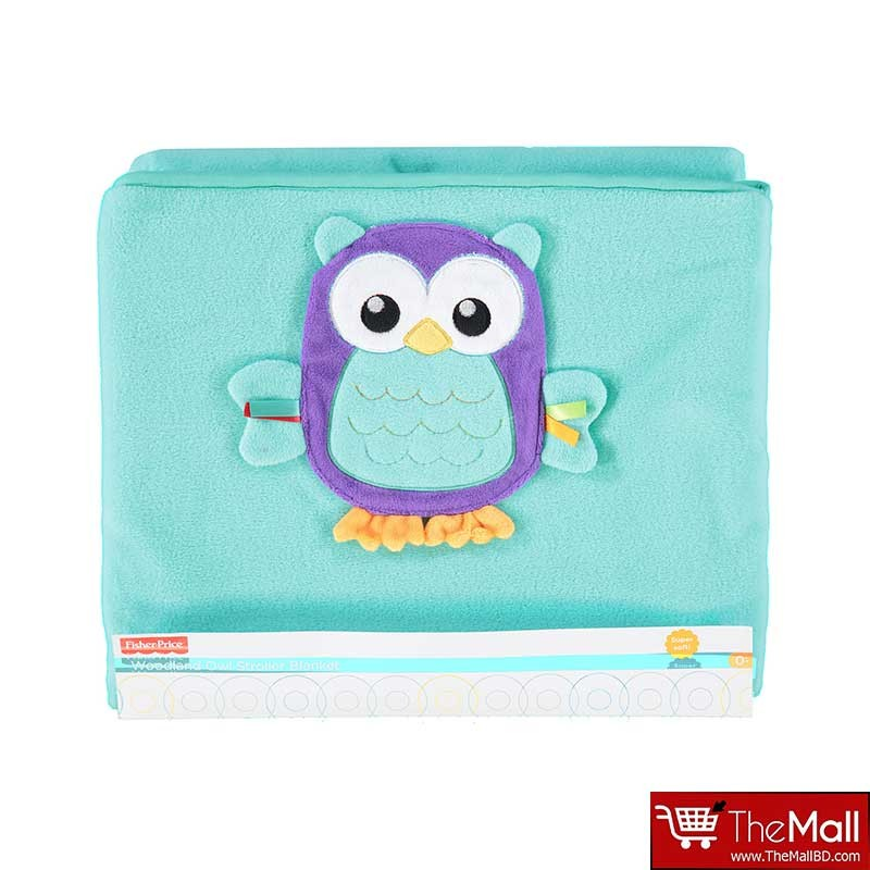 Fisher- Price Woodland OWL Stroller Blanket