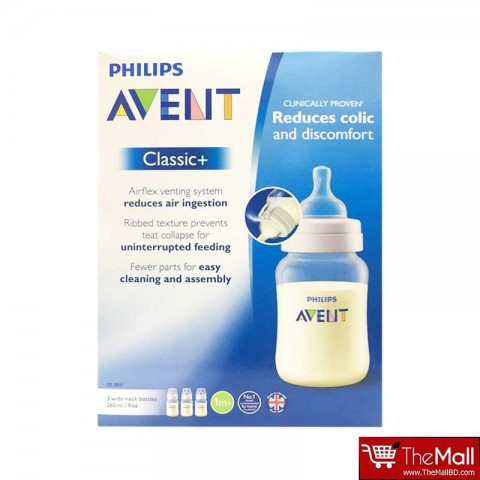 Philips Avent Classic + Bottle 260ml-3pk