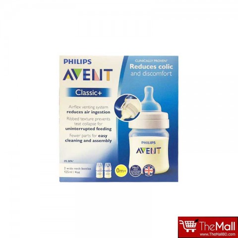 Philips Avent Classic Bottle 125 ml 2pack-0m+