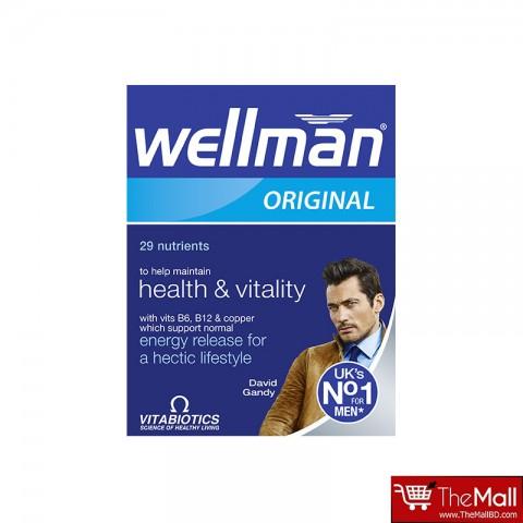 Vitabiotics Wellman Original 29 Nutrients Health & Vitality Food Supplement 30 Tablets