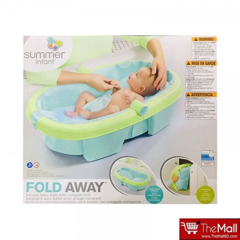 Summer Infant Newborn-To-Toddler Fold Away Baby Bath-Green