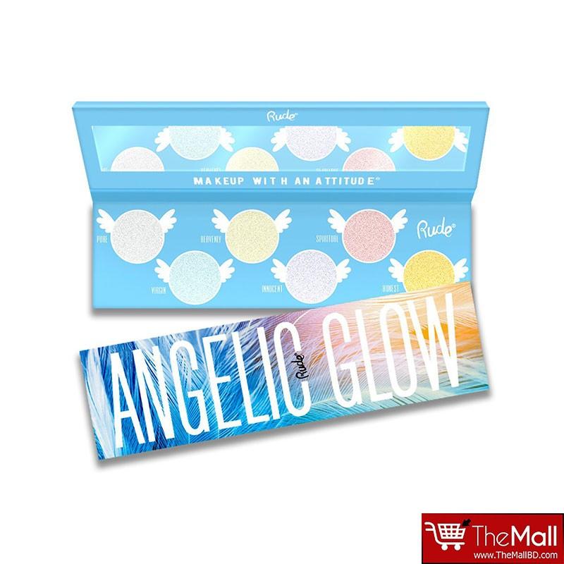 Rude Angelic Glow Highlighter + Eyeshadow Palette