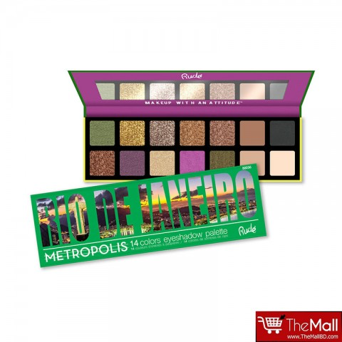 Rude Metropolis 14 Color Eyeshadow Palette - Rio De Janeiro