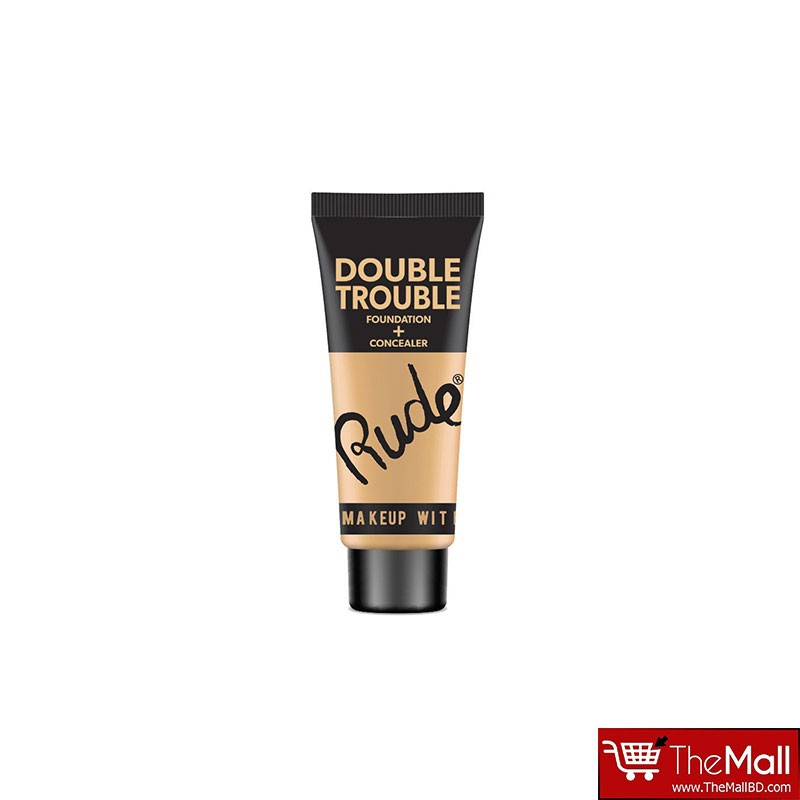 Rude Double Trouble Foundation + Concealer 30ml - Fair