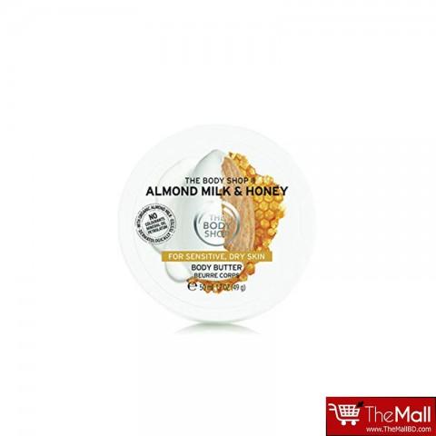 The Body Shop Almond Milk & Honey Body Butter For Sensitive, Dry Skin 50ml