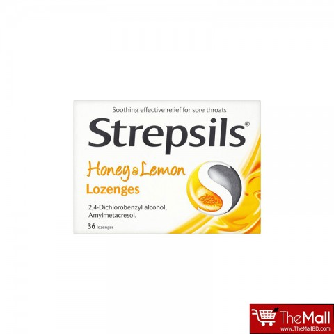 Strepsils Honey & Lemon Lozenges-36 Lozenges