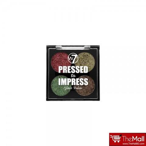 W7 Pressed to Impress Glitter Palette - In Vogue