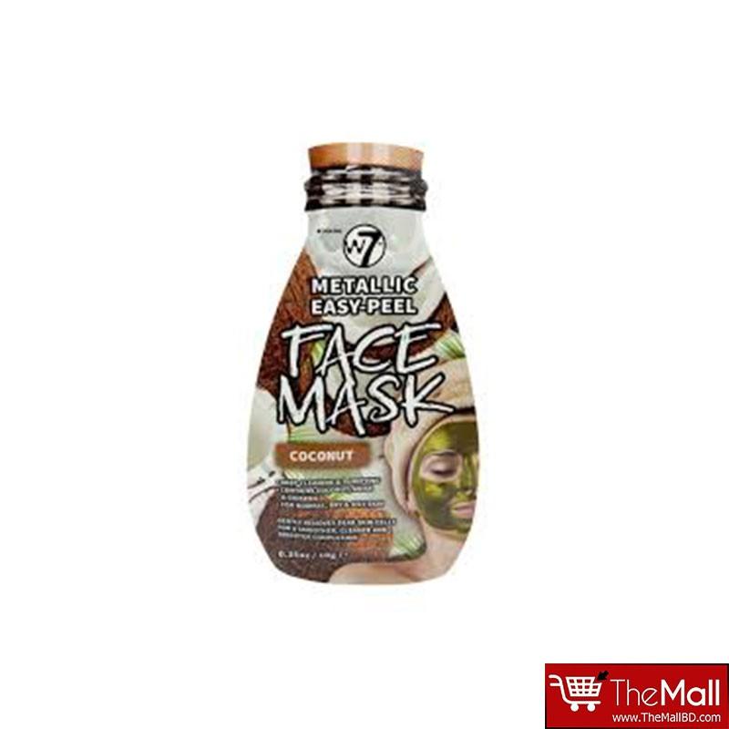 W7 Metallic Easy Peel Coconut Face Mask - 10g