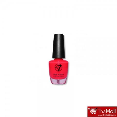 W7 Nail Polish 15ml - Fluorescent Pink