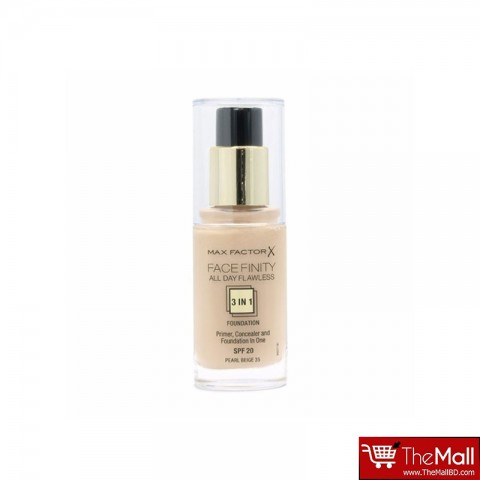 Max Factor Facefinity 3 in 1 Foundation Spf 20-Pearl Beige 35