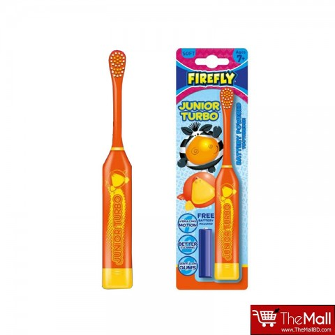 Firefly Junior Turbo Soft Battery Powered Toothbrush 7+ Ages - Orange