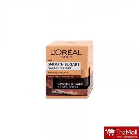 L'Oréal Paris Smooth Sugars Nourish Cocoa Face And Lip Scrub 50ml