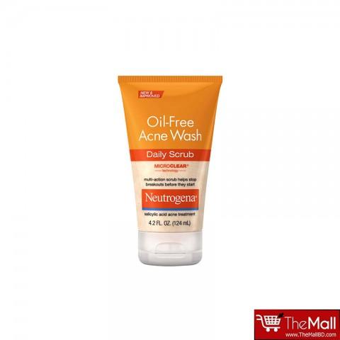 Neutrogena Oil Free Acne Wash Daily Scrub 124ml