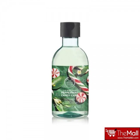 The Body Shop Peppermint Candy Cane Fragranced Shower Gel 250ml